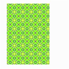 Vibrant Abstract Tropical Lime Foliage Lattice Large Garden Flag (two Sides) by DianeClancy