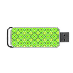 Vibrant Abstract Tropical Lime Foliage Lattice Portable Usb Flash (two Sides) by DianeClancy