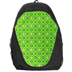 Vibrant Abstract Tropical Lime Foliage Lattice Backpack Bag by DianeClancy