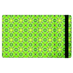 Vibrant Abstract Tropical Lime Foliage Lattice Apple Ipad 3/4 Flip Case by DianeClancy