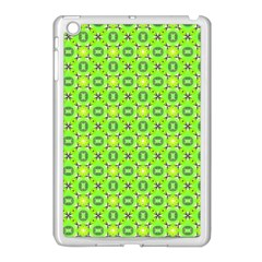 Vibrant Abstract Tropical Lime Foliage Lattice Apple Ipad Mini Case (white) by DianeClancy