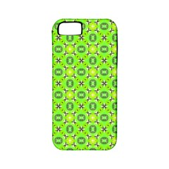 Vibrant Abstract Tropical Lime Foliage Lattice Apple Iphone 5 Classic Hardshell Case (pc+silicone) by DianeClancy
