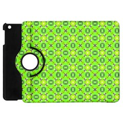 Vibrant Abstract Tropical Lime Foliage Lattice Apple Ipad Mini Flip 360 Case by DianeClancy