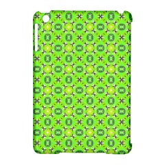 Vibrant Abstract Tropical Lime Foliage Lattice Apple Ipad Mini Hardshell Case (compatible With Smart Cover) by DianeClancy