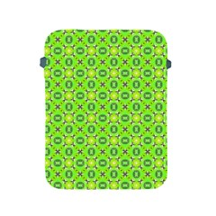 Vibrant Abstract Tropical Lime Foliage Lattice Apple Ipad 2/3/4 Protective Soft Cases by DianeClancy