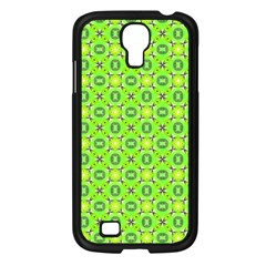 Vibrant Abstract Tropical Lime Foliage Lattice Samsung Galaxy S4 I9500/ I9505 Case (black) by DianeClancy
