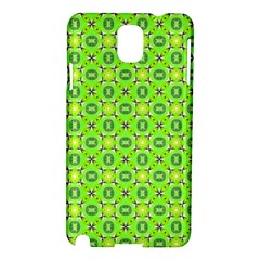 Vibrant Abstract Tropical Lime Foliage Lattice Samsung Galaxy Note 3 N9005 Hardshell Case by DianeClancy