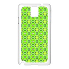 Vibrant Abstract Tropical Lime Foliage Lattice Samsung Galaxy Note 3 N9005 Case (white) by DianeClancy