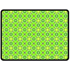 Vibrant Abstract Tropical Lime Foliage Lattice Double Sided Fleece Blanket (large)  by DianeClancy