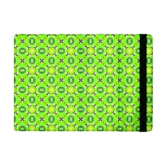 Vibrant Abstract Tropical Lime Foliage Lattice Ipad Mini 2 Flip Cases by DianeClancy