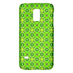 Vibrant Abstract Tropical Lime Foliage Lattice Galaxy S5 Mini by DianeClancy