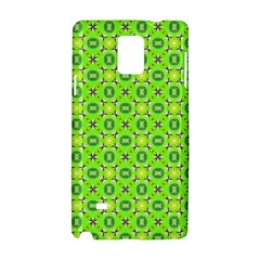 Vibrant Abstract Tropical Lime Foliage Lattice Samsung Galaxy Note 4 Hardshell Case by DianeClancy
