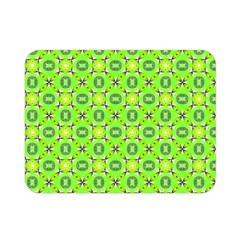 Vibrant Abstract Tropical Lime Foliage Lattice Double Sided Flano Blanket (mini)  by DianeClancy
