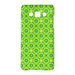Vibrant Abstract Tropical Lime Foliage Lattice Samsung Galaxy A5 Hardshell Case