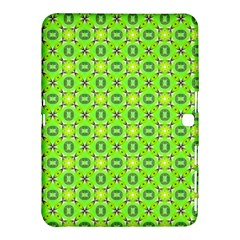 Vibrant Abstract Tropical Lime Foliage Lattice Samsung Galaxy Tab 4 (10 1 ) Hardshell Case  by DianeClancy