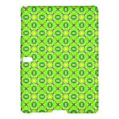Vibrant Abstract Tropical Lime Foliage Lattice Samsung Galaxy Tab S (10 5 ) Hardshell Case  by DianeClancy