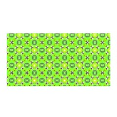 Vibrant Abstract Tropical Lime Foliage Lattice Satin Wrap by DianeClancy