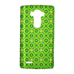 Vibrant Abstract Tropical Lime Foliage Lattice Lg G4 Hardshell Case by DianeClancy