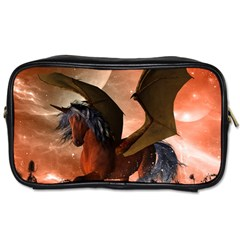 Wonderful Dark Unicorn In The Night Toiletries Bags 2 Side by FantasyWorld7