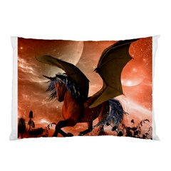 Wonderful Dark Unicorn In The Night Pillow Case (two Sides)