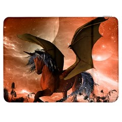 Wonderful Dark Unicorn In The Night Samsung Galaxy Tab 7  P1000 Flip Case by FantasyWorld7
