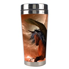 Wonderful Dark Unicorn In The Night Stainless Steel Travel Tumblers by FantasyWorld7