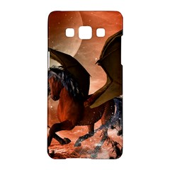 Wonderful Dark Unicorn In The Night Samsung Galaxy A5 Hardshell Case  by FantasyWorld7