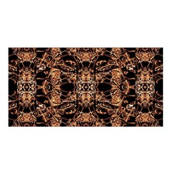 Dark Ornate Abstract  Pattern Satin Shawl by dflcprints