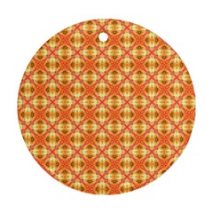 Peach Pineapple Abstract Circles Arches Ornament (round)  by DianeClancy