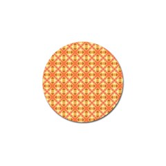 Peach Pineapple Abstract Circles Arches Golf Ball Marker (4 Pack) by DianeClancy