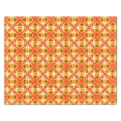 Peach Pineapple Abstract Circles Arches Rectangular Jigsaw Puzzl by DianeClancy