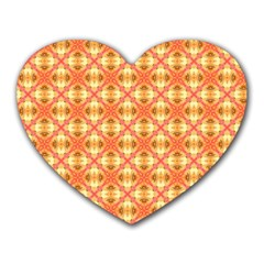 Peach Pineapple Abstract Circles Arches Heart Mousepads by DianeClancy