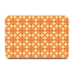 Peach Pineapple Abstract Circles Arches Plate Mats by DianeClancy