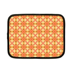 Peach Pineapple Abstract Circles Arches Netbook Case (small)  by DianeClancy