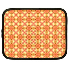 Peach Pineapple Abstract Circles Arches Netbook Case (large) by DianeClancy