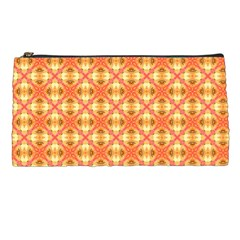 Peach Pineapple Abstract Circles Arches Pencil Cases by DianeClancy