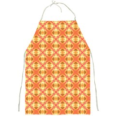 Peach Pineapple Abstract Circles Arches Full Print Aprons by DianeClancy