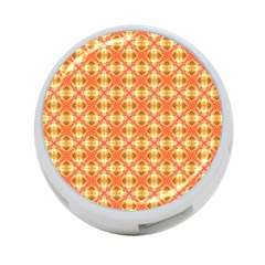 Peach Pineapple Abstract Circles Arches 4 Port Usb Hub (one Side) by DianeClancy