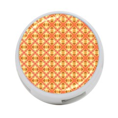 Peach Pineapple Abstract Circles Arches 4 Port Usb Hub (two Sides)  by DianeClancy