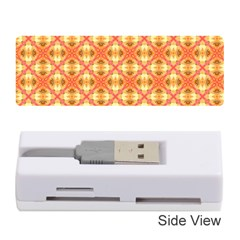 Peach Pineapple Abstract Circles Arches Memory Card Reader (stick)  by DianeClancy