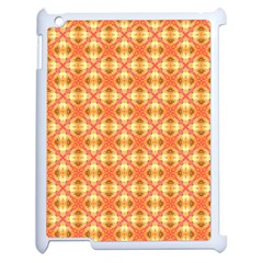 Peach Pineapple Abstract Circles Arches Apple Ipad 2 Case (white) by DianeClancy