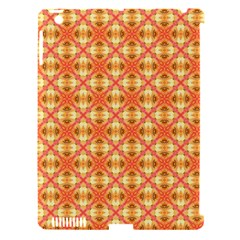 Peach Pineapple Abstract Circles Arches Apple Ipad 3/4 Hardshell Case (compatible With Smart Cover) by DianeClancy
