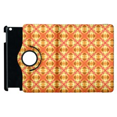 Peach Pineapple Abstract Circles Arches Apple Ipad 3/4 Flip 360 Case by DianeClancy