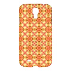 Peach Pineapple Abstract Circles Arches Samsung Galaxy S4 I9500/i9505 Hardshell Case by DianeClancy