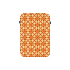 Peach Pineapple Abstract Circles Arches Apple Ipad Mini Protective Soft Cases by DianeClancy