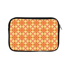 Peach Pineapple Abstract Circles Arches Apple Ipad Mini Zipper Cases by DianeClancy