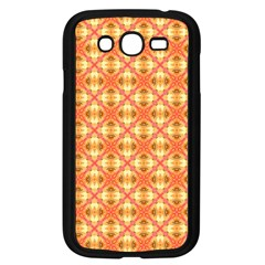 Peach Pineapple Abstract Circles Arches Samsung Galaxy Grand Duos I9082 Case (black) by DianeClancy