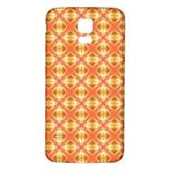 Peach Pineapple Abstract Circles Arches Samsung Galaxy S5 Back Case (white) by DianeClancy