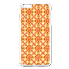 Peach Pineapple Abstract Circles Arches Apple Iphone 6 Plus/6s Plus Enamel White Case by DianeClancy