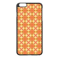 Peach Pineapple Abstract Circles Arches Apple Iphone 6 Plus/6s Plus Black Enamel Case by DianeClancy